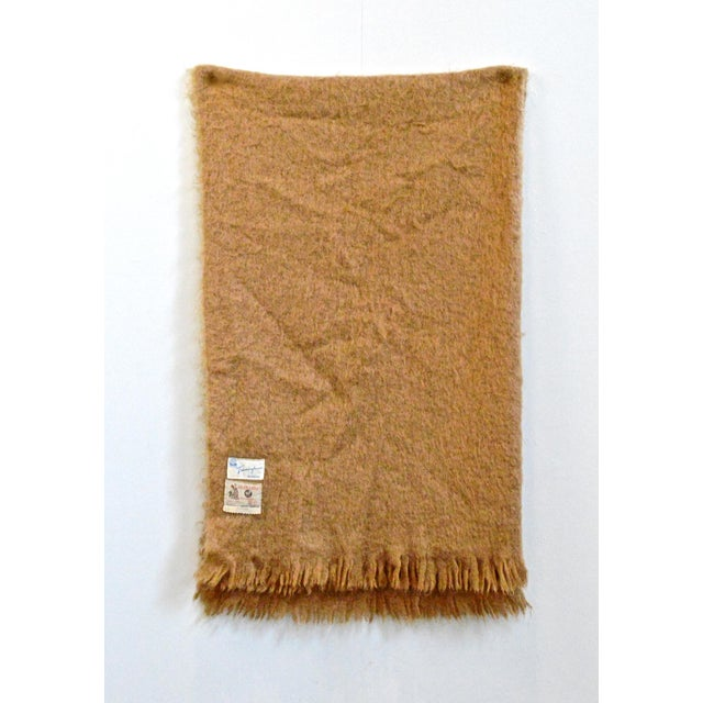 Camel Scottish Mohair Throw For Sale - Image 8 of 8