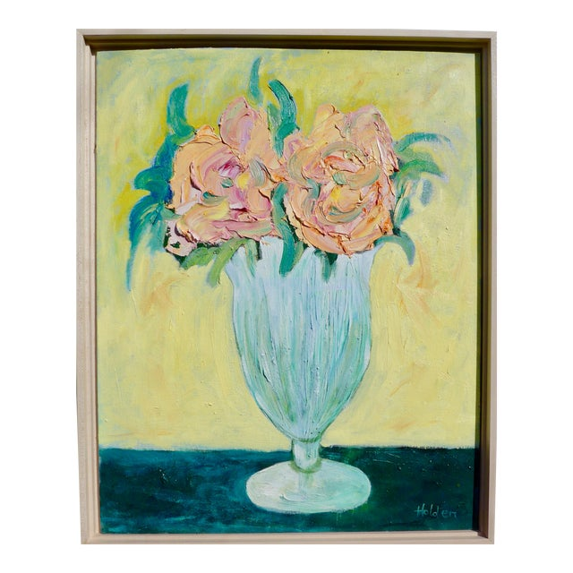 French Pink Roses Still Life For Sale