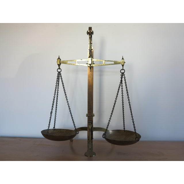 Early 19th Century Antique English Brass Bankers Scale For Sale - Image 10 of 10