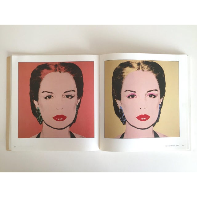 """Paper """"Warhol Portraits of the 70's"""" Vintage 1979 Rare 1st Edition Collector's Art Book For Sale - Image 7 of 11"""