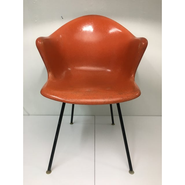 Mid-Century Modern Burnt Orange Shell Chair by Cole Steel For Sale - Image 12 of 12
