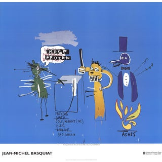 Jean-Michel Basquiat, the Dingoes That Park Their Brain With Their Gum, Offset Lithograph, 2002 For Sale