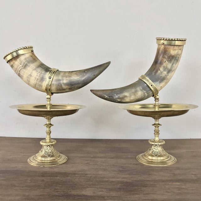 Pair 19th Century Bronze-Mounted Horn Bookends For Sale In Dallas - Image 6 of 11