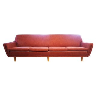 Folke Ohlsson for Dux Danish Mid-Century Space Age Red Sofa
