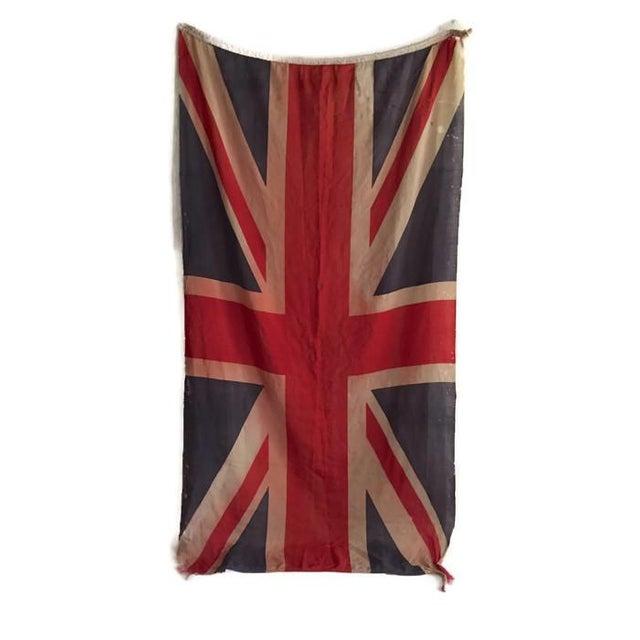 Vintage Union Jack Paper Thin Distressed Flag - Image 6 of 10