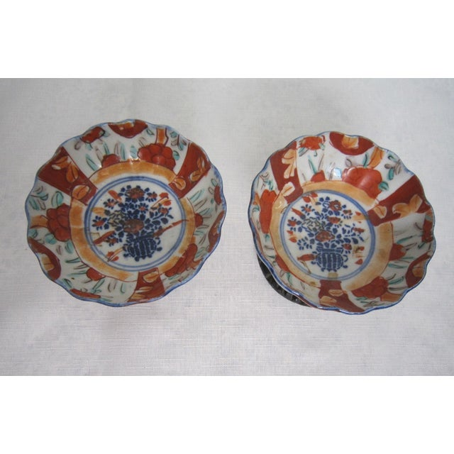 Vintage Japanese Bowls With Stands - Pair For Sale - Image 4 of 6