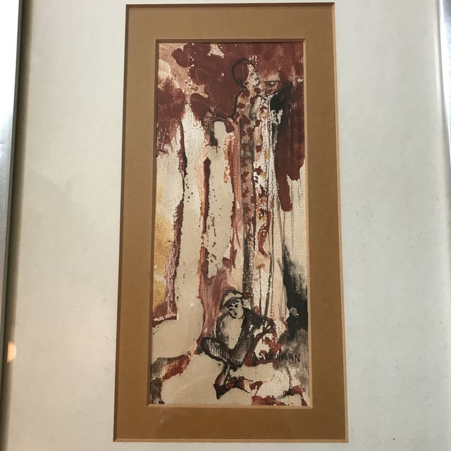 Traditional Vintage Watercolor of a Lady Signed Schulman For Sale - Image 3 of 6