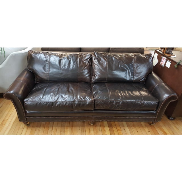 Awesome Stanford Leather Sofa With Nailheads Onthecornerstone Fun Painted Chair Ideas Images Onthecornerstoneorg