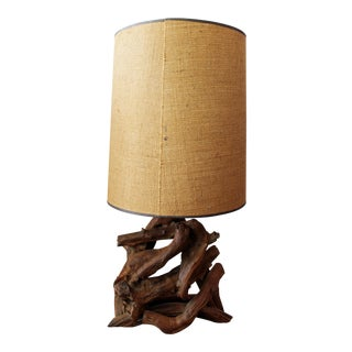Mid Century Free Form Driftwood Table Lamp