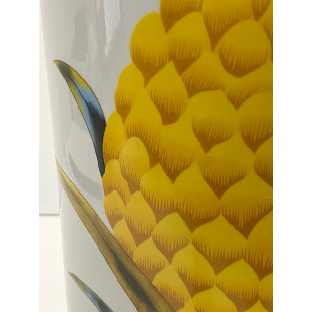 Vintage Fornasetti Style Umbrella Stand With Double Pineapple Motif For Sale - Image 10 of 12