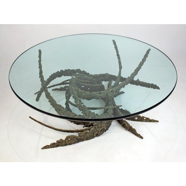 Cast and Welded Sculptural Bronze Round 'Swirl' Coffee Table by Daniel Gluck For Sale - Image 10 of 12