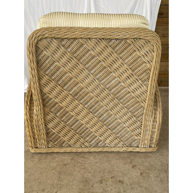 Coastal Wicker Braid Lounge Chair For Sale - Image 4 of 13