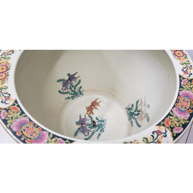 Royal Satsuma Japanese Hand Painted & Transferware Planter c.1950s Large and lovely planter that will make a great home...