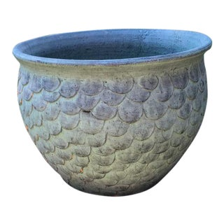 Leaf Accented Weathered Large Planter