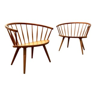 Mid Century Modern Danish Arka Chairs by Yngve Ekström- a Pair For Sale
