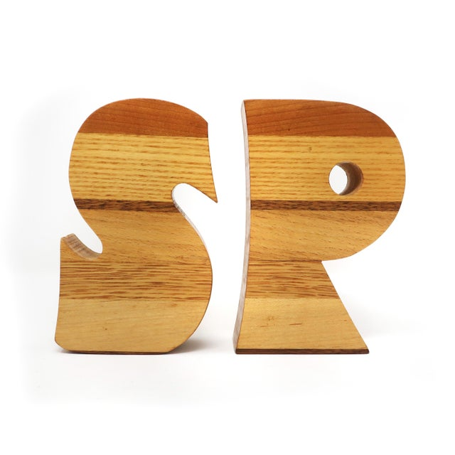 Wood Vintage Handmade S&p Salt and Pepper Shakers For Sale - Image 7 of 7