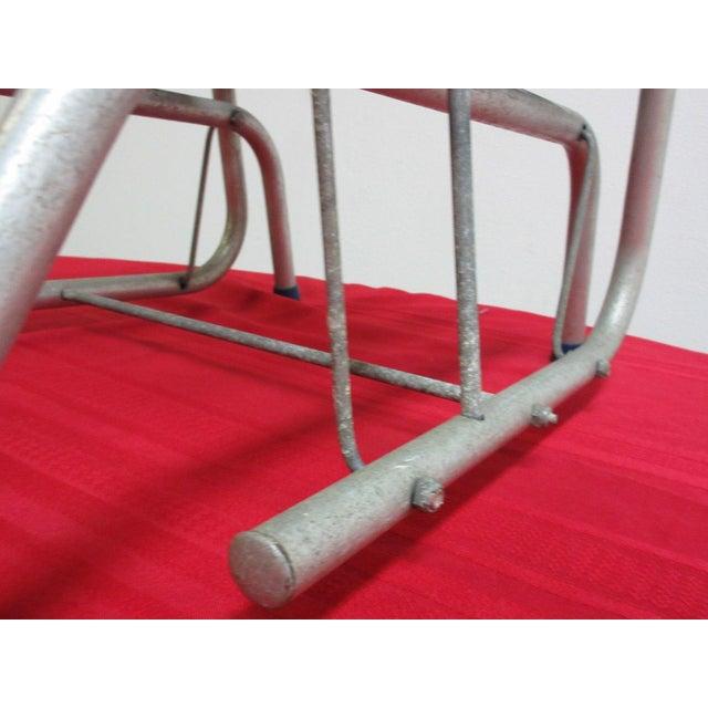 Vintage Mid Century Child's Aluminum Glider Porch Patio Chair - Image 6 of 7