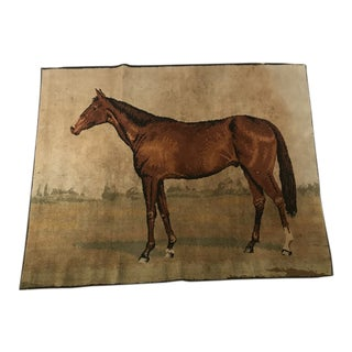 Antique Horse Rug Wall Hanging For Sale