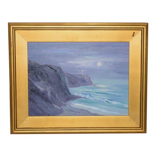 "Don Crocker ""Illuminating the Night"" Point Vincent Lighthouse Oil Painting For Sale"