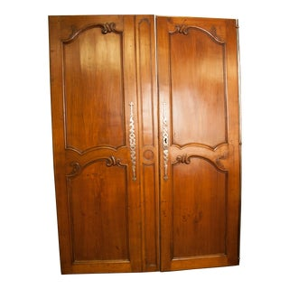 Antique French Armoire Doors For Sale