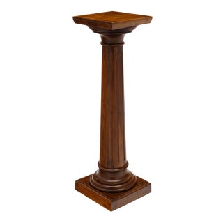 Antique French Walnut Pedestal For Sale
