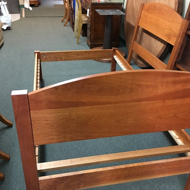 Richard Bissell Solid Cherry Twin Bed - Image 5 of 8