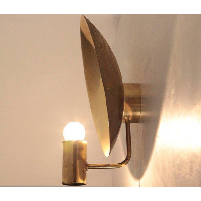 Mid-Century Modern Pair of Hans-Agne Jakobsson Wall Lamps in Brass For Sale - Image 3 of 7