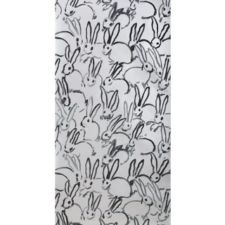 Hunt Slonem for Lee Jofa, Hutch Wallpaper Roll, Silver, 10 Yards For Sale