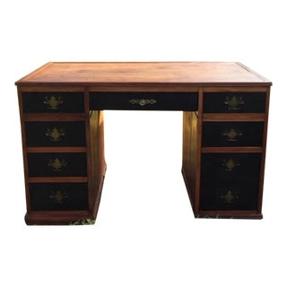 1960s Campaign Drexel Partner Desk For Sale