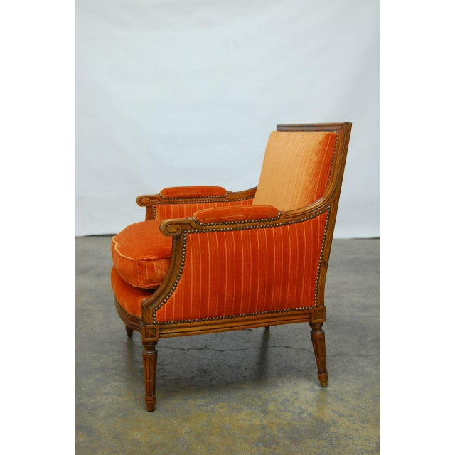 French Louis XVI Style Marquise Armchair - Image 4 of 7