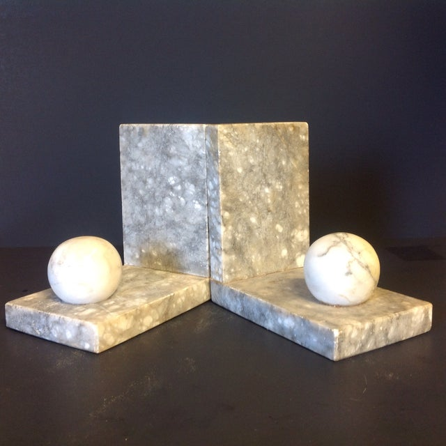 Italian Minimalist Marble Bookends - A Pair - Image 2 of 5