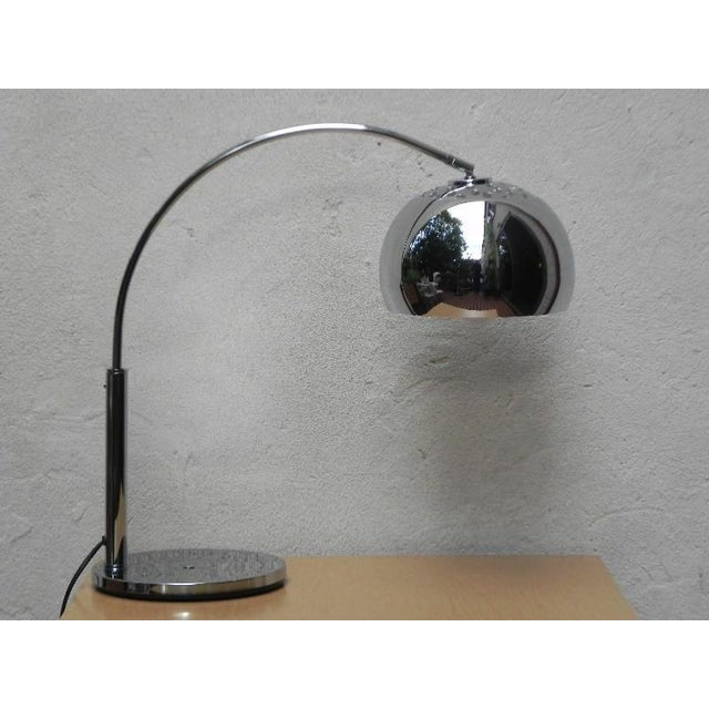 Mod Chrome Arc Modern Desk Lamp For Sale - Image 9 of 9