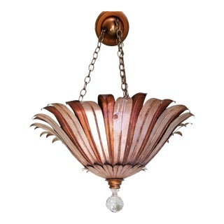 Antique French Sunburst Pendant Light