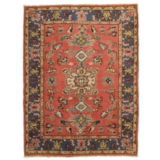 RugsinDallas Hand Knotted Wool Turkish Oushak Rug - 5′6″ × 7′3″ For Sale