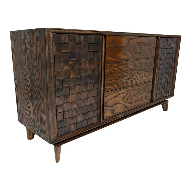 Modern Checkered Credenza by Paul Laszlo for Brown Saltman For Sale