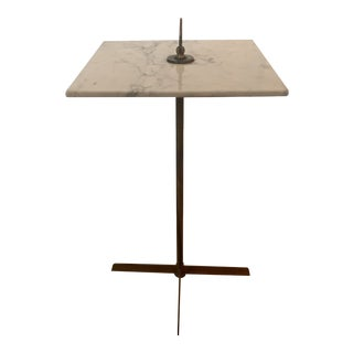 1960s Italian Brass and Marble Drinks Table For Sale