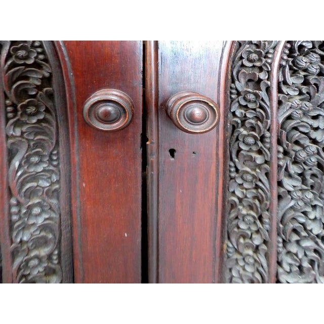 Mid 19th Century 19th Century Burmese Over-Scale Carved Rosewood Anglo-Indian Sideboard For Sale - Image 5 of 11