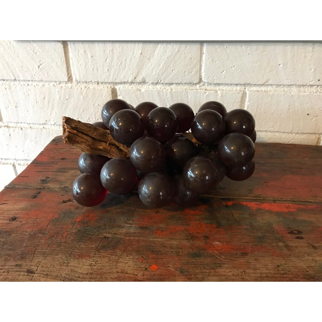 """Nice mid century decorative grape cluster. Larger size. Each grape is approximately 2"""" D. The stem is a thick piece is..."""