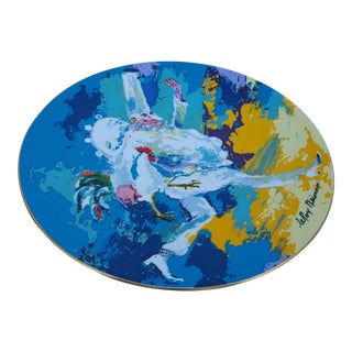 1978 Leroy Neiman -Punchinello - Colorful Decorative Ceramic Plate For Sale