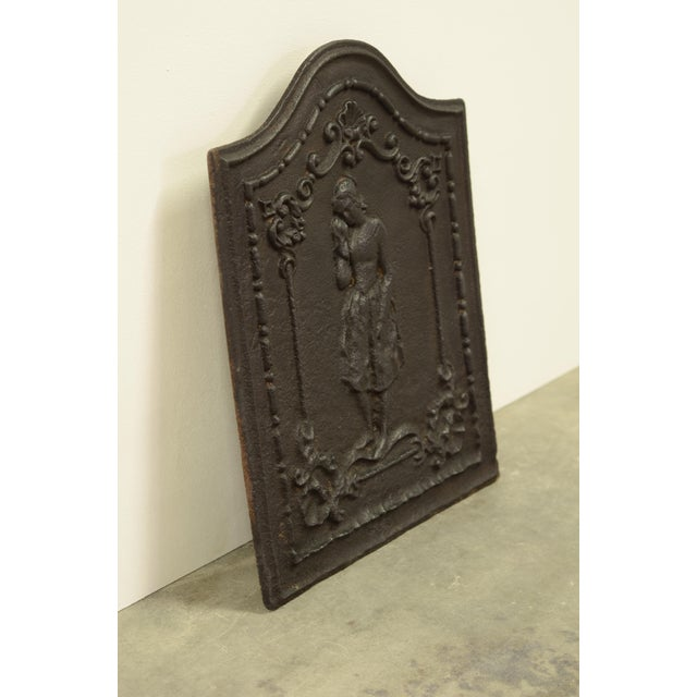 """Louis XVI Antique Fireback """"The Weeping Woman"""" For Sale - Image 3 of 4"""
