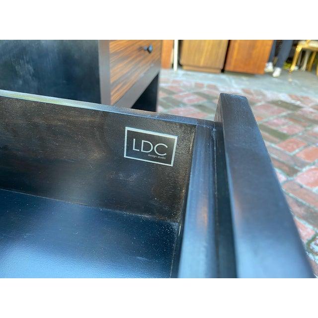 1990s Ldc Design Studio Side Tables-Zebra Wood For Sale - Image 4 of 8