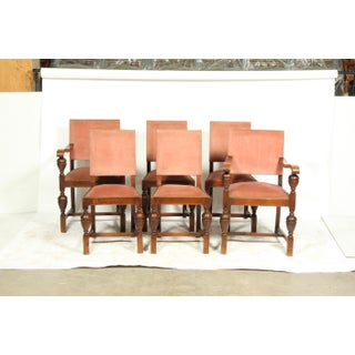 Louis XIV Style Mauve Dining Chairs S/6 Preview