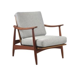1960s Vintage Danish Teak Reclining Lounger For Sale