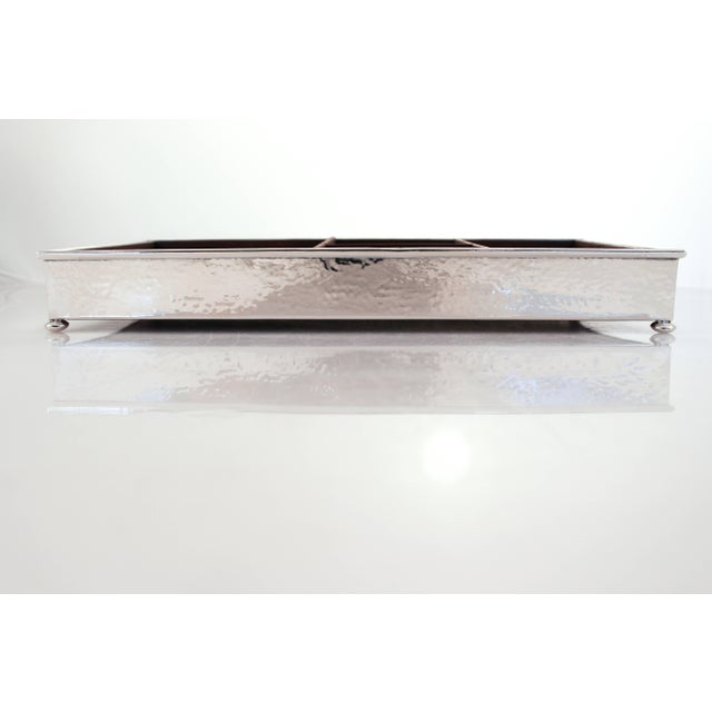 What Do You Get The Person That Has Everything? This Lovely Sterling And Wood Desk Organizer. Four Different Size...