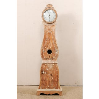 19th Century Swedish Painted Wood Long Case Floor Clock Preview