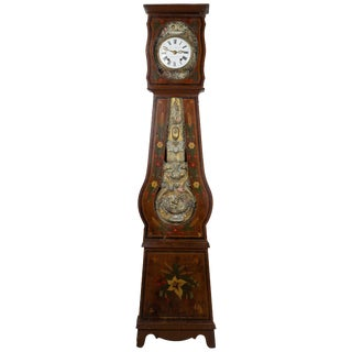 French Comtoise Grandfather Clock For Sale