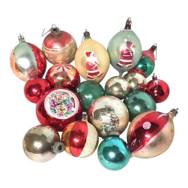 Vintage Glass Christmas Ornaments Set of 18 - Image 1 of 5