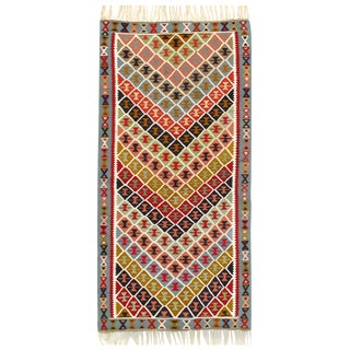 "Persian Shiraz Kilim Rug - 3'3"" X 6'1"" For Sale"