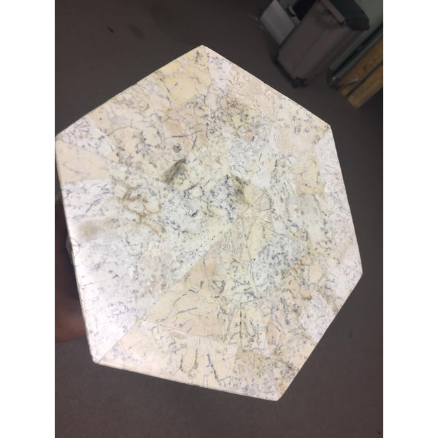 Hollywood Regency Maitland=Smith Style Tessellated Stone Column For Sale - Image 3 of 6