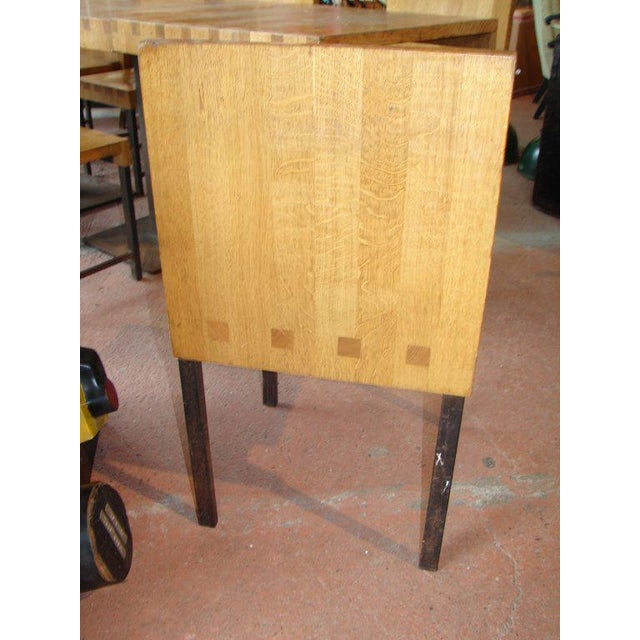 1960s Wood and Steel Dining Chairs and Tables For Sale - Image 5 of 9